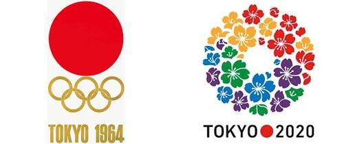 Logos de los JJOO de Tokio 64 y de la candidatura de 2020